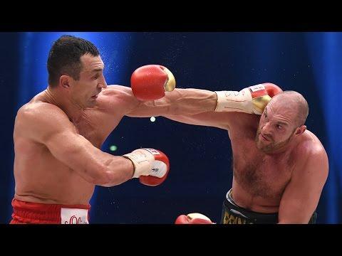 Tyson Fury Vs Wladimir Klitschko a ringben